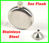 Water Bottles & Containers best liquor - Best price oz Round Stainless Steel Hip Flask Window Gold Tone Liquor Container