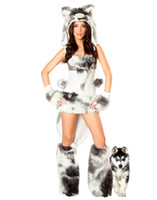TV & Movie Costumes adult dog costume - Cosplay Animal Dogs Sexy Costumes For Women Adult The Husky Deluxe Costume Plus Size Faux Furry Outfits O31182