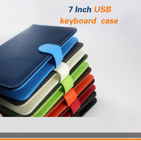 Wholesale 7 inch Keyboard Case For Android Tablet PC Leather Case with Micro USB keyboard Multi Color lo