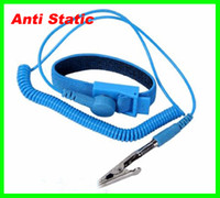 Wholesale Best price NEW Anti Static Antistatic ESD Adjustable Wrist Strap Band Grounding Blue
