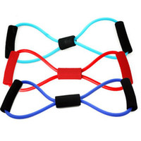 Wholesale Sport Fitness Yoga Resistance Band Shape Pull Rope Tube Equipment Tool Gym New D23