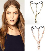 Wholesale Disc Coin Crown Hair Cuff Wrap Headband Headwrap Headdress Boho Punk Goth Chain