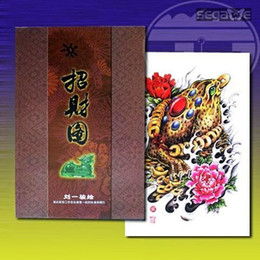 Wholesale Traditional Tattoo Fortune Sketch Flash Design Art Book A4 B4 BOOK1099