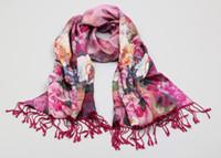 Wholesale Pashmina feeling Silk Shawl Wraps Scarf Womens Neck Scarves