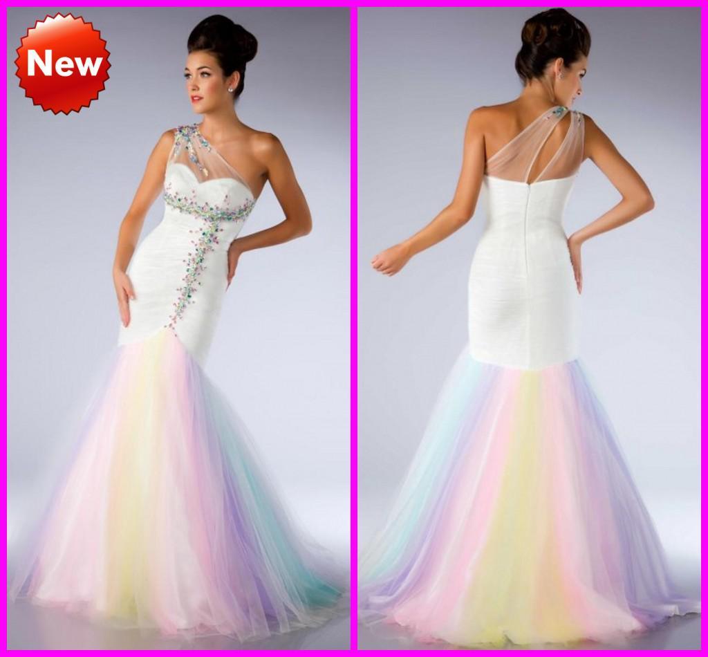colorful mermaid prom dresses