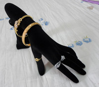 Wholesale Black color bracelet ring jewerly display hand model stand display holder