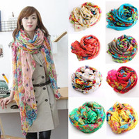 Wholesale Big size Fashion Voile Scarf Women s Wrap Shawl Bandelet Muffler Neckerchief Scarves colors