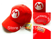Wholesale Super Mario Bros Baseball Hat Caps Red Blue Purple Yellow White Mario Luigi Hats colors