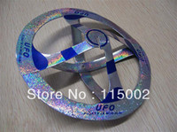 Wholesale 6pcs Mystery Magic UFO Suspended air floating floats in mid air trick hot educational toys