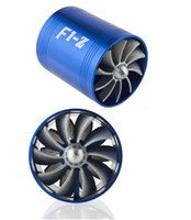 Turbochargers   Free Shipping, supercharger F1-Z double-sided wheel impeller turbo fan 7.5*6.5cm gas fuel saver