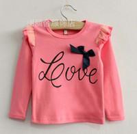 childrens wear - Kids Wear Long Sleeve T Shirt Girls Bowknot Lace Shirts Fashion Casual Tops Childrens Sweatshirts