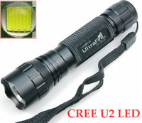 Wholesale Ultratfire WF B CREE XM L U2 LED Flashlight Mode LM Waterproof Alloy Torch PC East Face