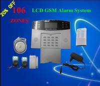 Wired auto security alarms - High Quality GSM Wireless Burglar Alarm Home Security Systems Voice LCD Auto Dialer S214