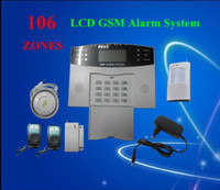 Wholesale DHL Shipping GSM Burglar Intelligent Alarm System Wireless Home Security zone LCD Display S214