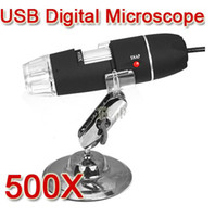 Wholesale 2 MP USB Digital Microscope X X Magnifier Video Camera with LED light