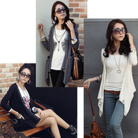 Wholesale Fashion Open Front Lady Women s sweater Rivets Cardigan Asymmetric Hem Tops Slim Outerwear G0127