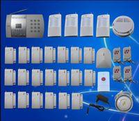 Wholesale 20 Door Window Detector Home Security Alarm System Kit Auto Dial Burglar Intruder Alarm Systems S216