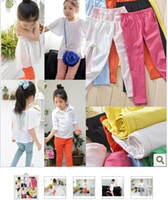 Wholesale 2016 New children girl candy color pencil pants tight skinny pants long trousers with pocket colors KZ77