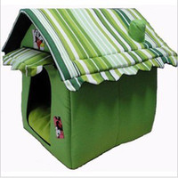 Wholesale Folding removable cartoon dog kennel dog house dog house teddy kennel green