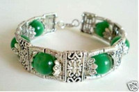 Wholesale Hot Tibet Jewellery Green Jade Bead Bracelet