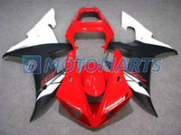Wholesale Red white flat blk Fairing kit for YAMAHA YZF R1 YZF R1 YZF1000 YZFR1