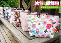 Wholesale Outdoor Insulated Tinfoil Cooler Thermal Picnic Lunch Bag Waterproof Cold packs Travel Carry Tote