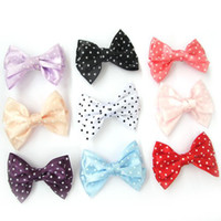 Wholesale 60pcsAlligator Hair Clips Hairpin Headband Ribbon Bow Gossip Grosgrain Satin Gift Kid