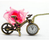 bicycle watch - Fashion necklace watch New jewelry Cool Vine Bicycle Necklace Pendant Watch