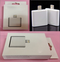 Wholesale Retail carton package packaging Pin to Pin Male Adapter Data Charger for iPhone G