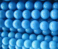 Wholesale 1000PCS mm Navy Blue Jade Gemstone Round Bead Beads