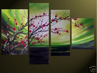 More Panel Oil Painting Fashion Hot sales!Hot sell new 4pc Huge WALL Modern Abstract on Canvas decorative Oil Painting Art