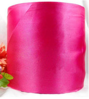 Wholesale 6 off new arrival hot sale meter mm Width Rose Red Fabric Silk Ribbon Decorations For Happy Time