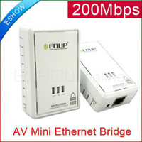 Wholesale 200Mbps wireless Network Adapter Home plug AV Mini Ethernet Bridge PLC D2006B Eshow