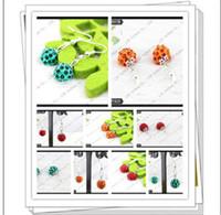 Wholesale shamballa earrings disco ball stud earrings sparkle shamballa earring EH371