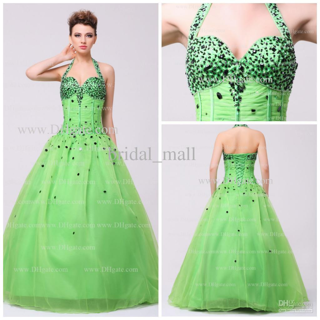 Gallery For Lime Green And Black Prom Dresses