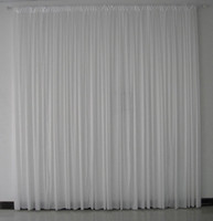 Wholesale 3m m white color high quality ice silk wedding backdrop curtain