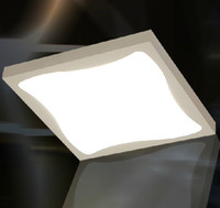 Surface mounted No Fluorescent Modern Minimalist Fashion White Acrylic Square Ceiling Lamp Chandelier Dining Room Living Room Light