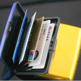 Wholesale New Anti theft Credit Card Aluminium Rod Bank ID Holders Card Business Card Box Case