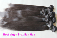 Wholesale 12 quot with mixed Straight Brazilian Virgin hair extensions human hair weave