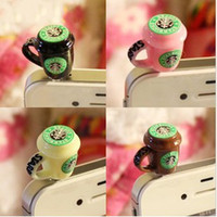Wholesale StarBucks Coffee Cup Mug Anti Dust Earphone Jack Plug Cover for iphone G S Note