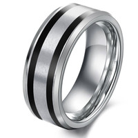 Wholesale men s rings Fashion jewelry tungsten ring size