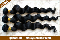Wholesale Hot Sale Mix Length quot quot g bundle Malaysian Hair Weave Weft Loose Wave B