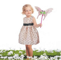 Summer american baby products - girl dress baby Long Sleeve skirt round dot pattern Children clothes summer new product kid skirt