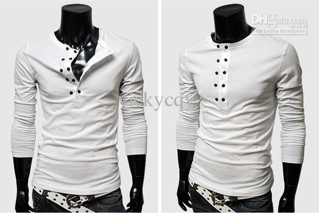 Wholesale New 2013 Mens T Shirts Hot Sell Casual Slim Stylish Slim ...