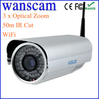 Wholesale 3 x Optical Zoom m IR Cut Infrared LED Wireless Bullet Night Vision Security IP Camera S616