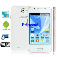 Wholesale A7100 Pink Android Version inch Capacitive Touch Screen Mobile Phone with Wifi Bluetooth