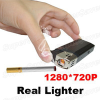 Wholesale HD P Real Lighter Spy Hidden Camera Video Recorder DVR USB U Disk Black
