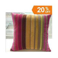 Wholesale Hot sale High quality promotion colorful strip cushion cover pillow Contains no pillow core