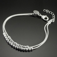 Women's silver925 jewelry - 2013 Fashion Women s Bracelet Pearl Chain Noble Silver925 Jewelry Romantic Hand Chain S50