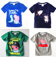 Wholesale 2013 new peppa george pig long sleeved boy t shirt brand quot NEXT quot